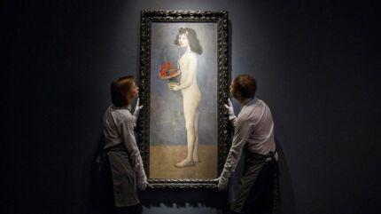 Picassos billede »Fillette à la Corbeille Fleurie« (»Ung pige med blomsterkurv«) blev solg for 115 mio. dollar svarende til 732 mio. kroner.